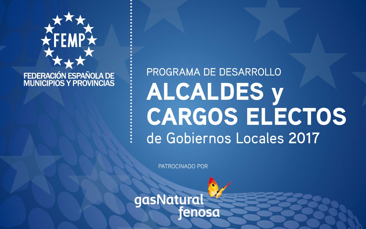 caratula del programa de cargos electos de la FEMP. 2017